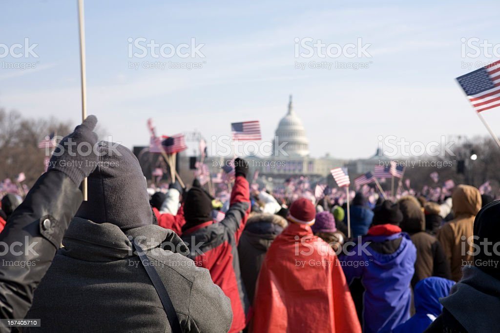 Barack Obama's presidential inauguration in Washington DC stock photo