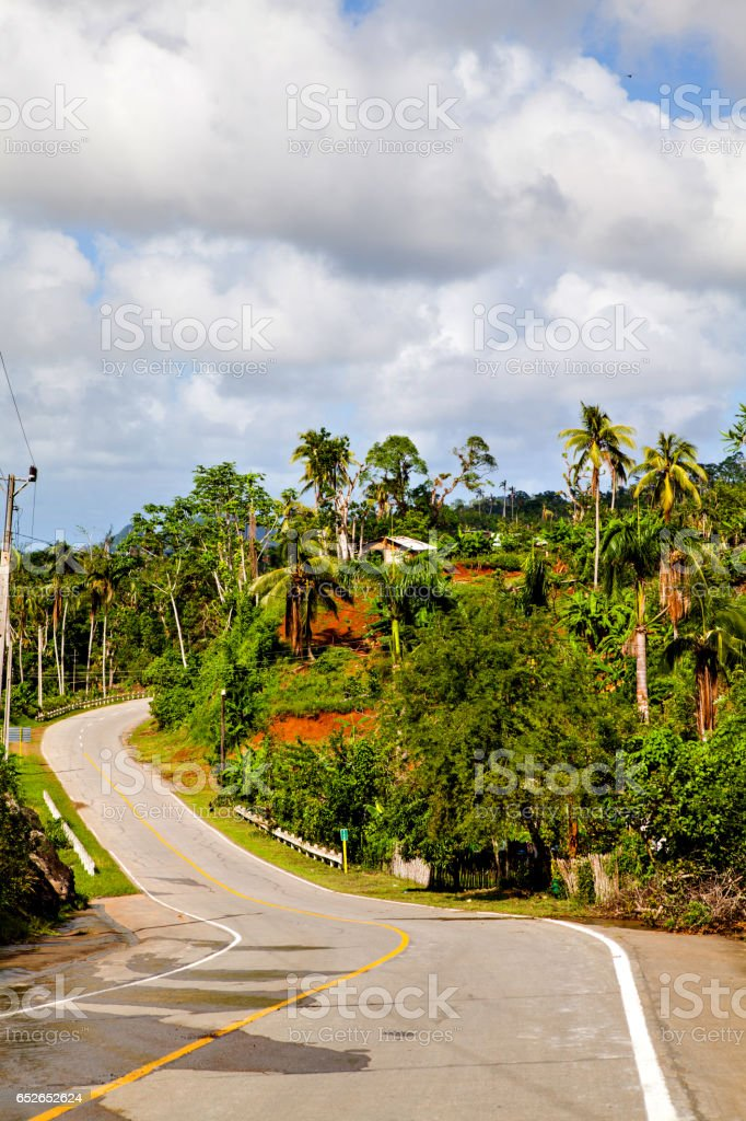 Baracoa, Cuba: natural landscape stock photo