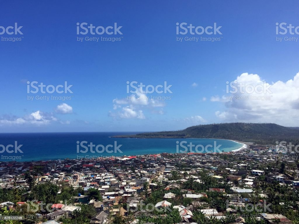 Baracoa panoramic view stock photo