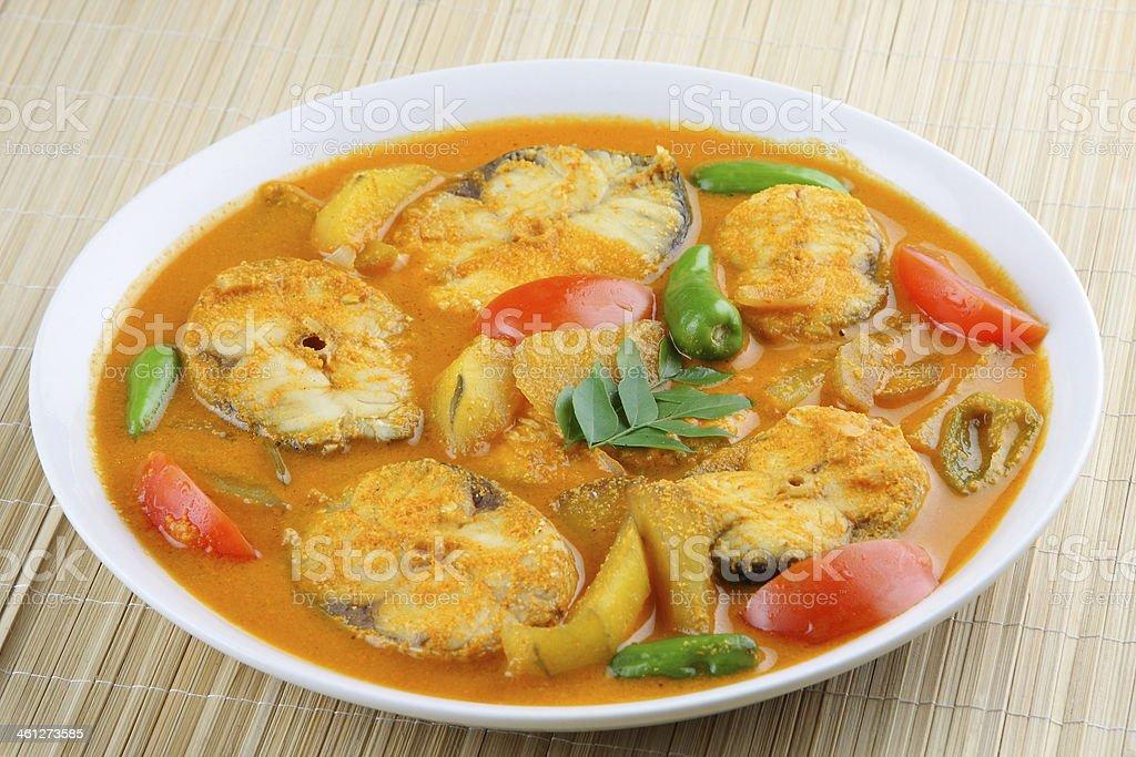 Baracuda Fish curry stock photo