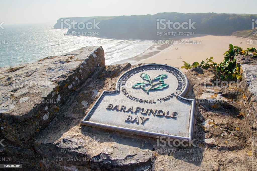 Barafundle Bay in Pembrokeshire stock photo