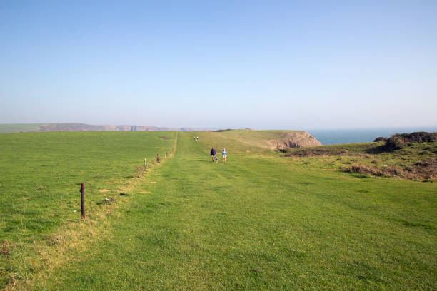 Barafundle Bay - Pembrokeshire stock photo