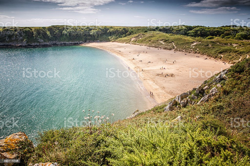 Barafundle Bay Pembrokeshire stock photo