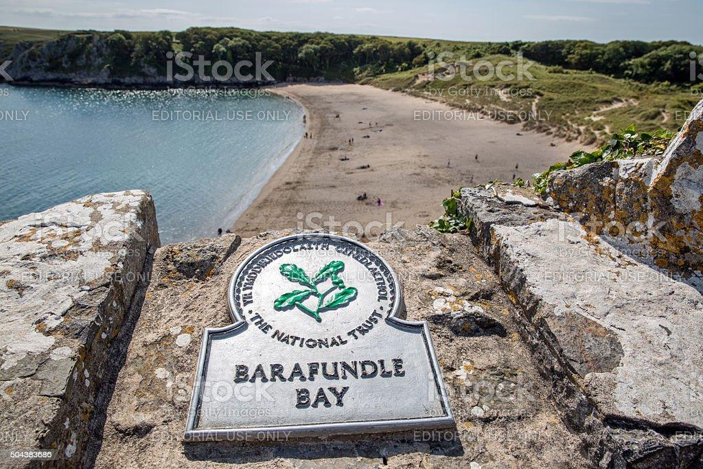 Barafundle Bay Pembrokeshire stock photo