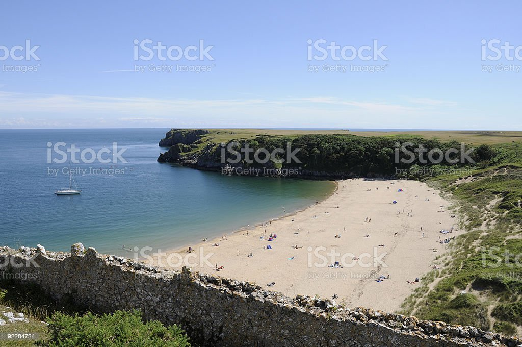 Barafundle Bay stock photo