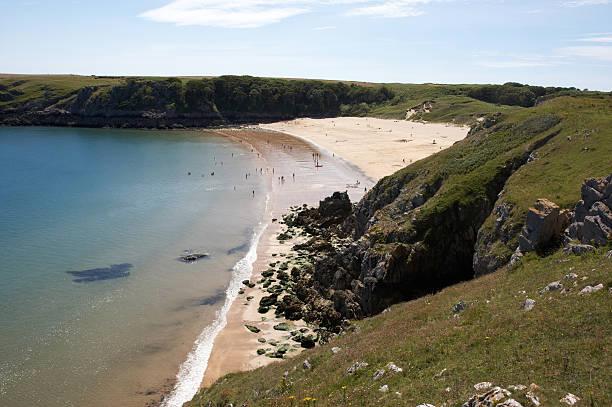 Barafundle Beach Pembrokeshire stock photo
