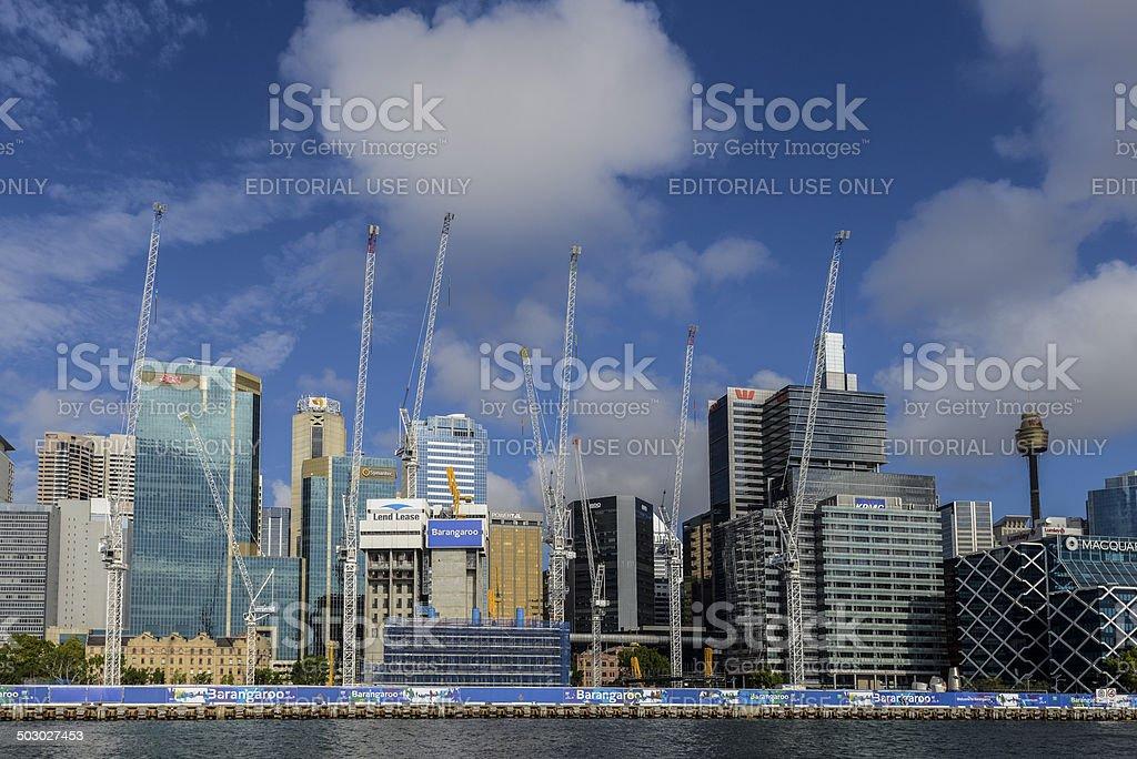 Barangaroo Crown Casino Development Construction Site, Sydney, Australia royalty-free stock photo
