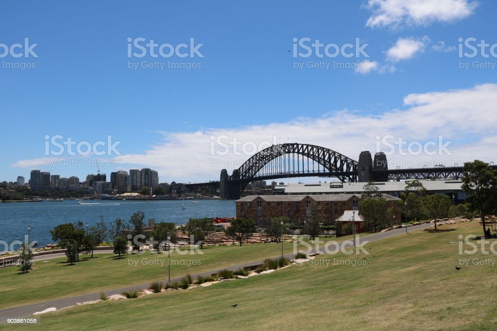 Barangaroo Reserve Millers Point in Sydney, New South Wales Australia stock photo