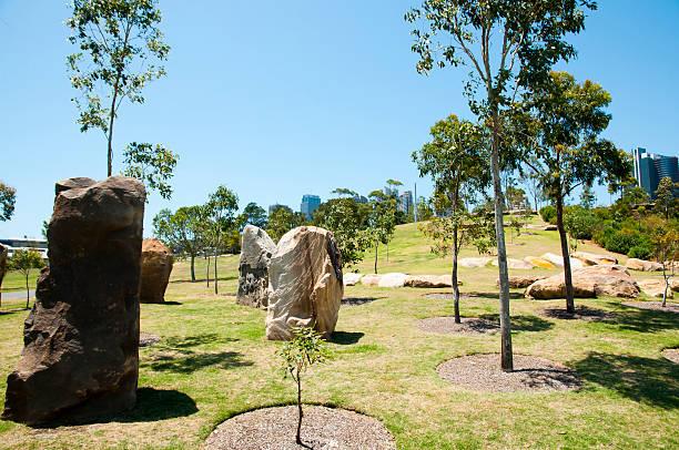 barangaroo reserve - sydney - australia - barangaroo stock photos and pictures