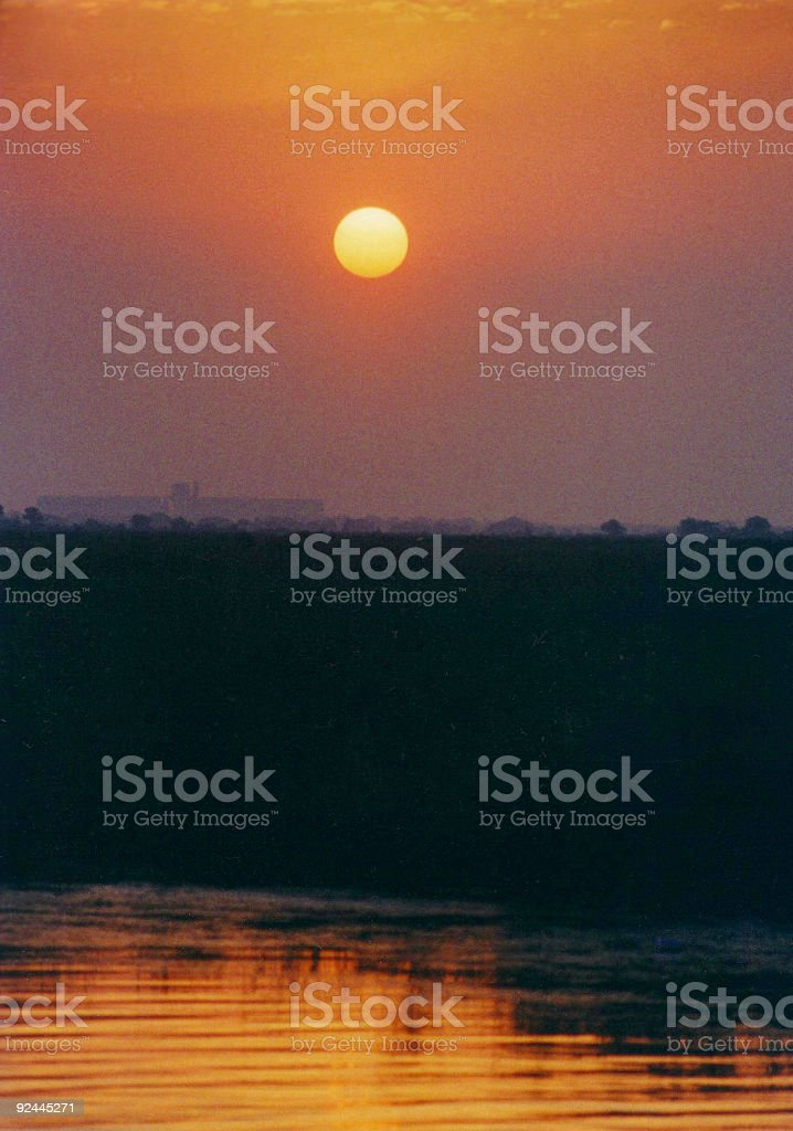 Barataria Sunrise stock photo