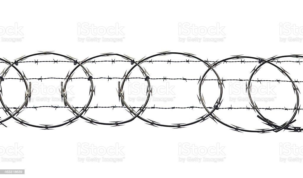 Barb Wire em branco - foto de acervo