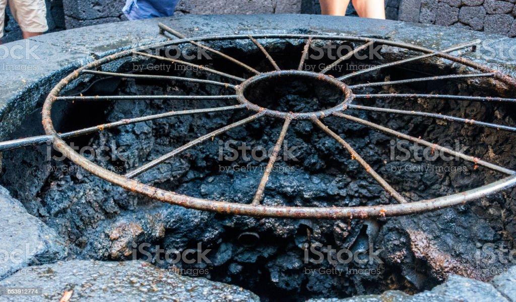 barbacue volcanic stock photo