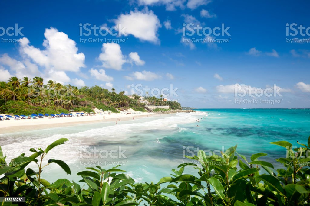 Barbados, Crane Beach royalty-free stock photo