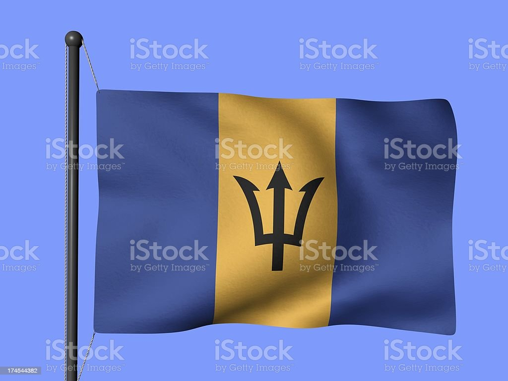 Barbados - flags of the world stock photo