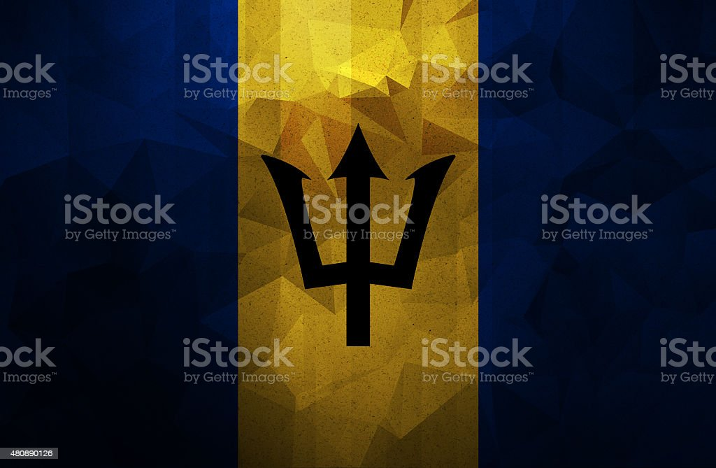 Barbados grunge flag. Vintage and retro style. stock photo