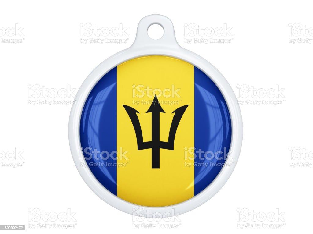 Barbados medal stock photo