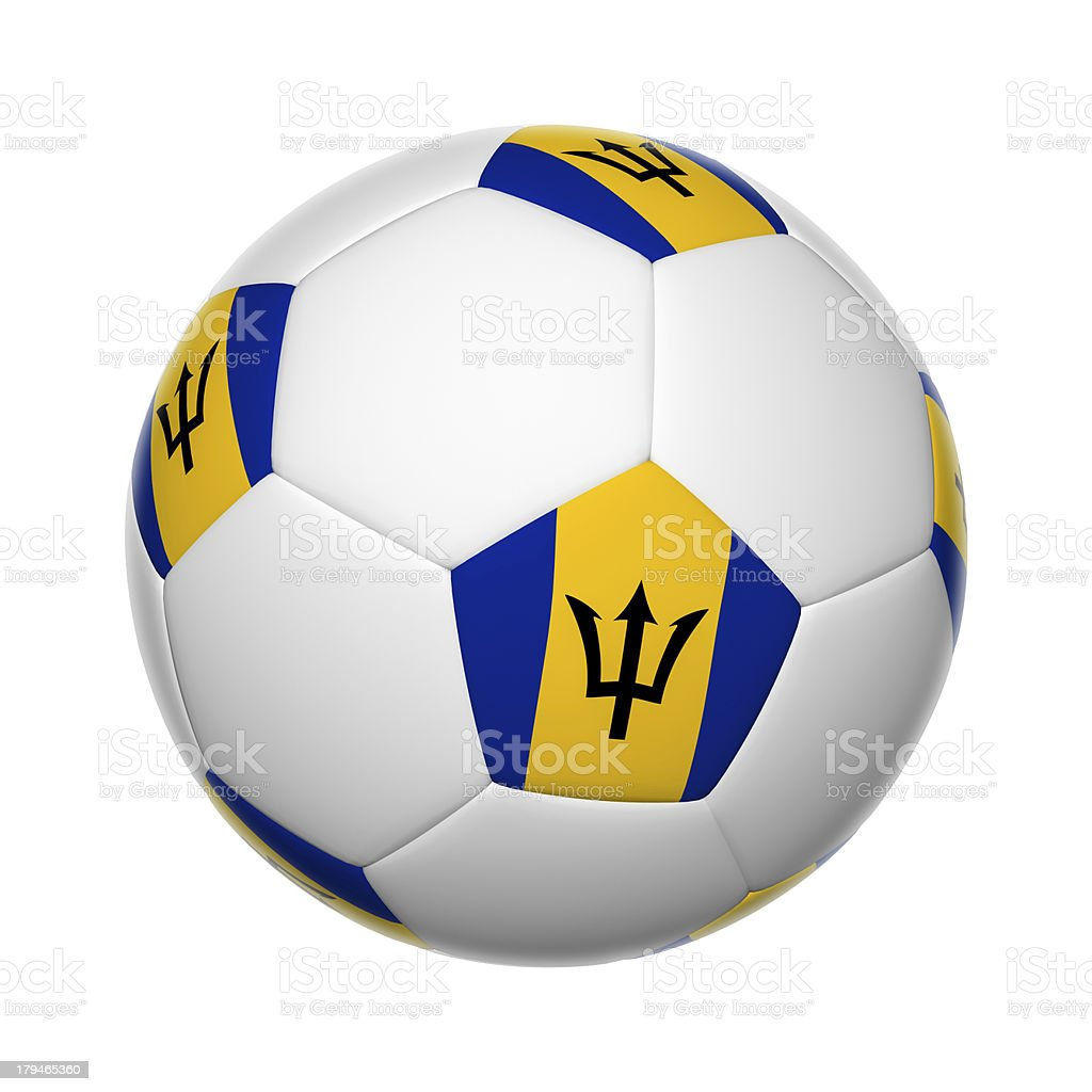 Barbados soccer ball stock photo
