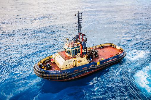 Bridgetown, Barbados-November 1, 2019- The Tugboat \
