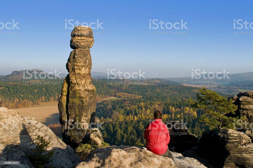 Barbarine - Landmark in the Saxon Switzerland royalty-free stock photo
