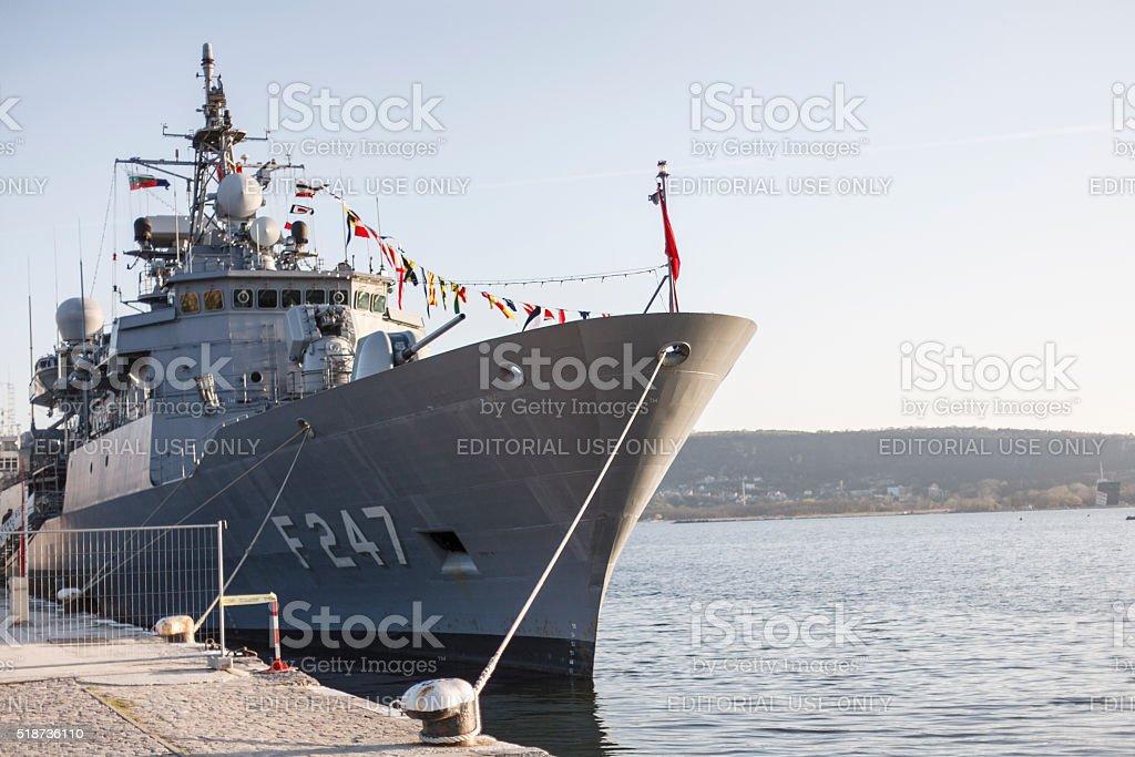 Barbaros-class NATO WARSHIP F-247 royalty-free stock photo
