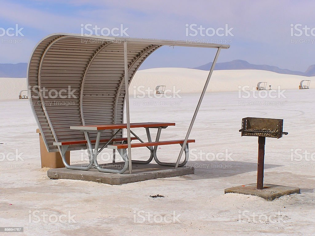 Barbecue and shelter royalty-free stock photo