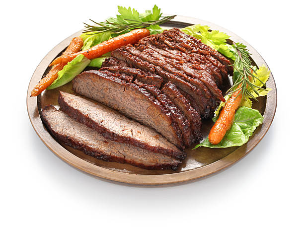 barbecue beef brisket stock photo