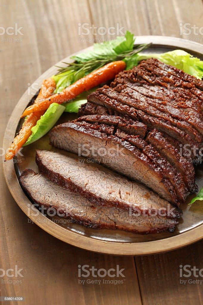 barbecue beef brisket stock photo