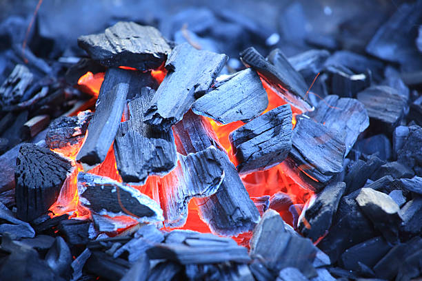 Barbecue charcoal stock photo