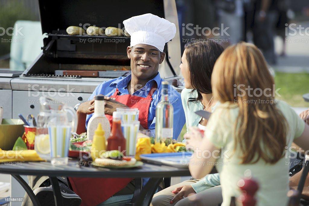 Barbecue Chef stock photo