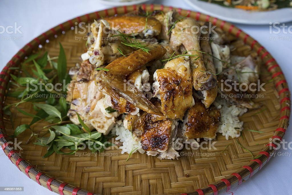 Barbecue chicken royalty-free stock photo