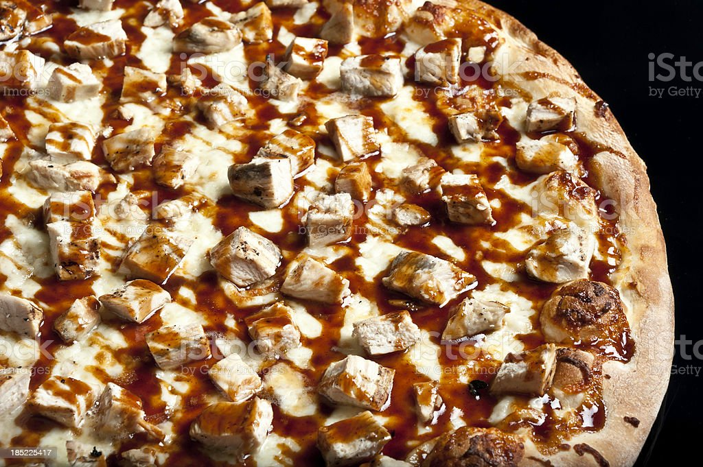 Barbecue Chicken Pizza royalty-free stock photo