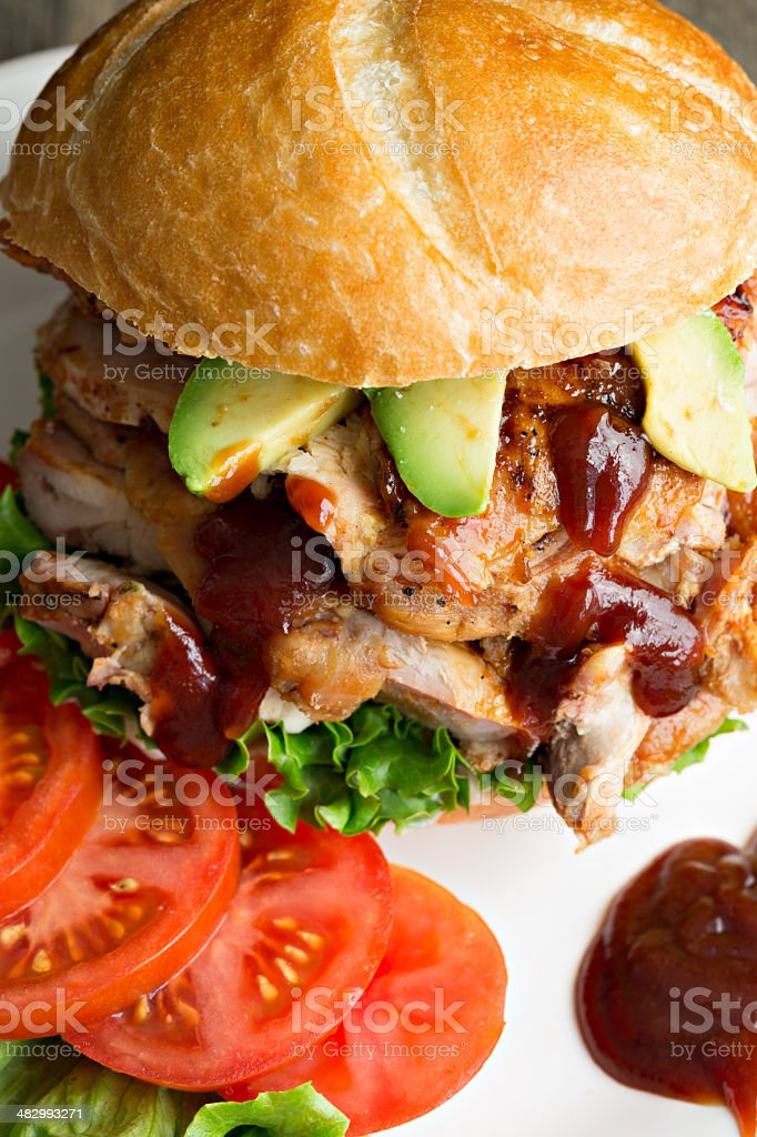 Barbecue Chicken Sandwich royalty-free stock photo