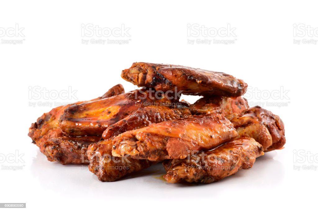 barbecue chicken wings stock photo