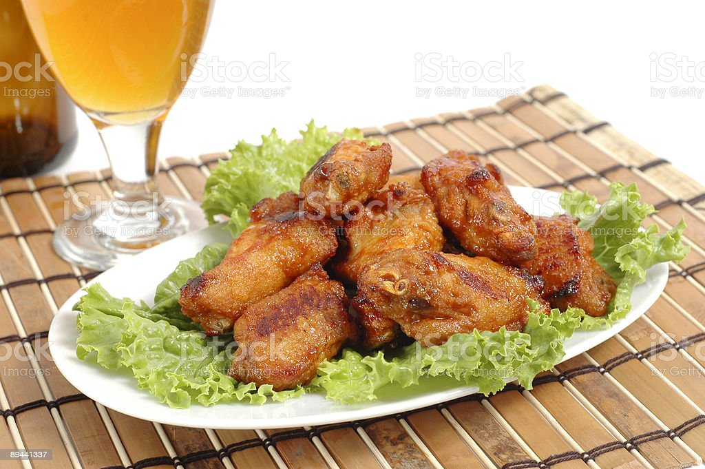 Barbecue Chicken Wings royalty-free stock photo