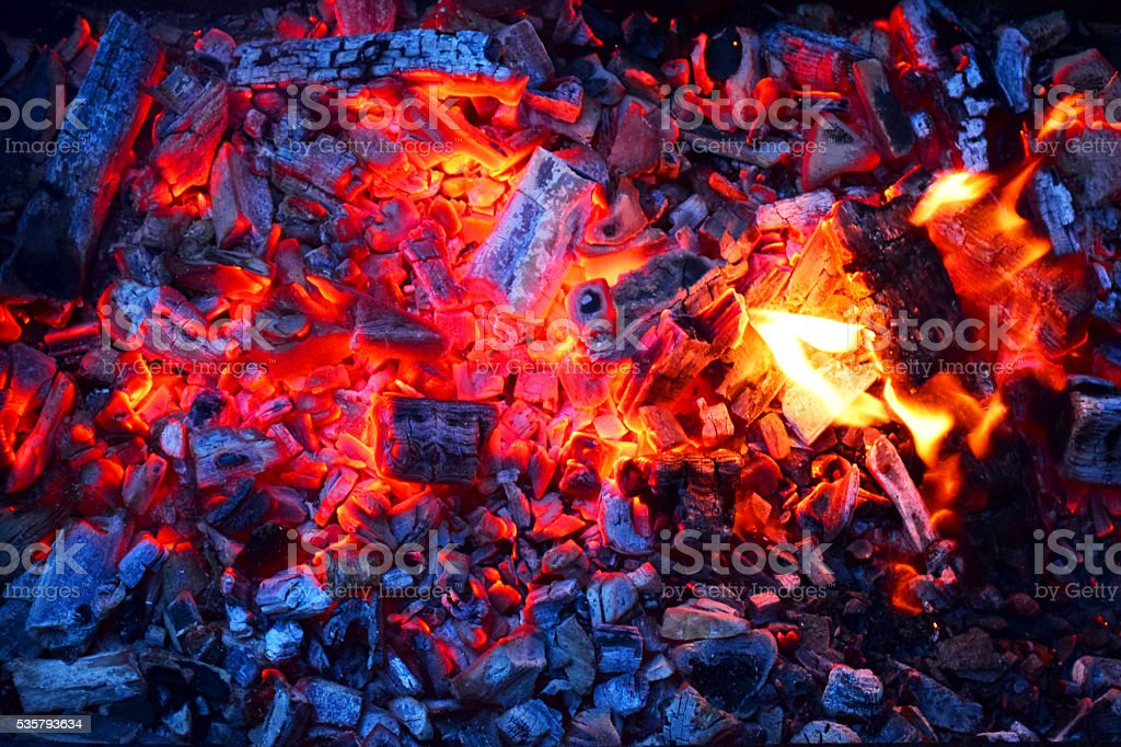 Barbecue coals - Royalty-free Beef Stock Photo