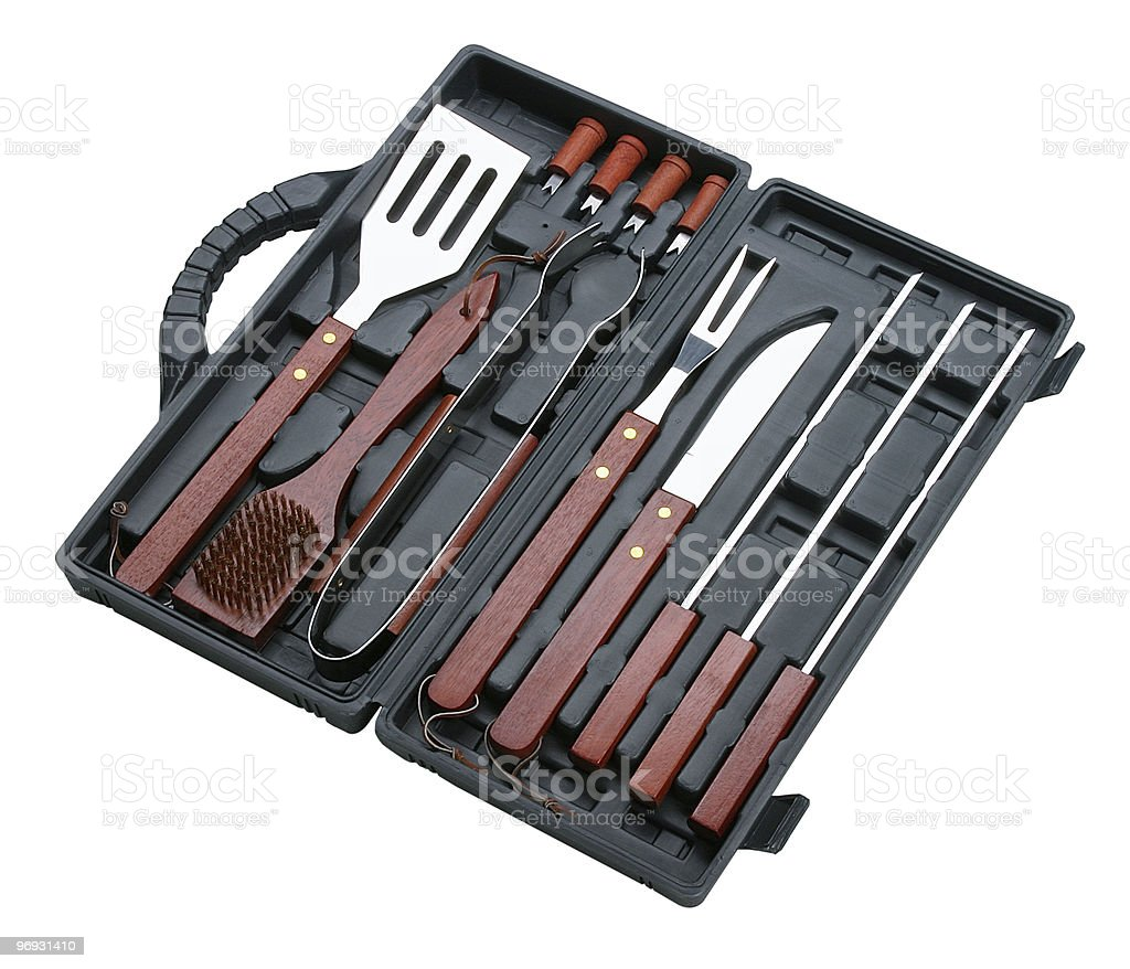 barbecue cooking set royalty-free stock photo