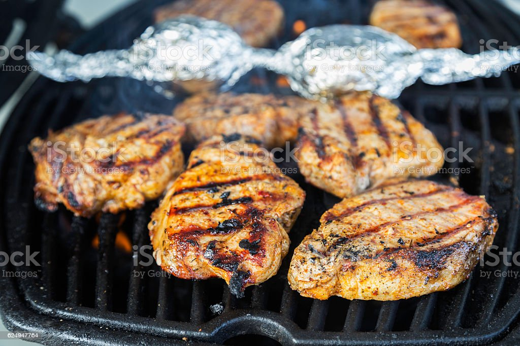 barbecue dinner stock photo