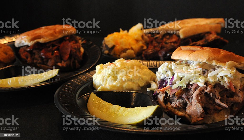 Barbecue Dinner Presented stock photo