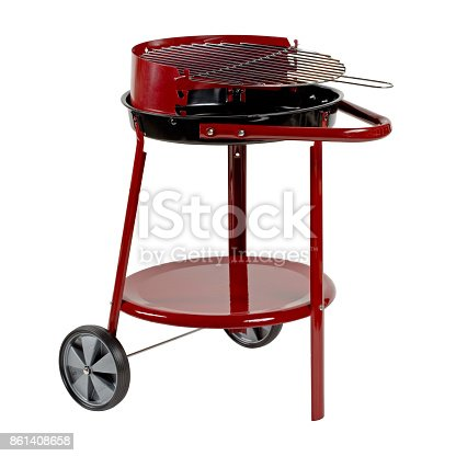 istock Barbecue grill isolated on white background. Clipping path. 861408658