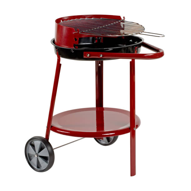 Barbecue grill isolated on white background. Clipping path. stock photo