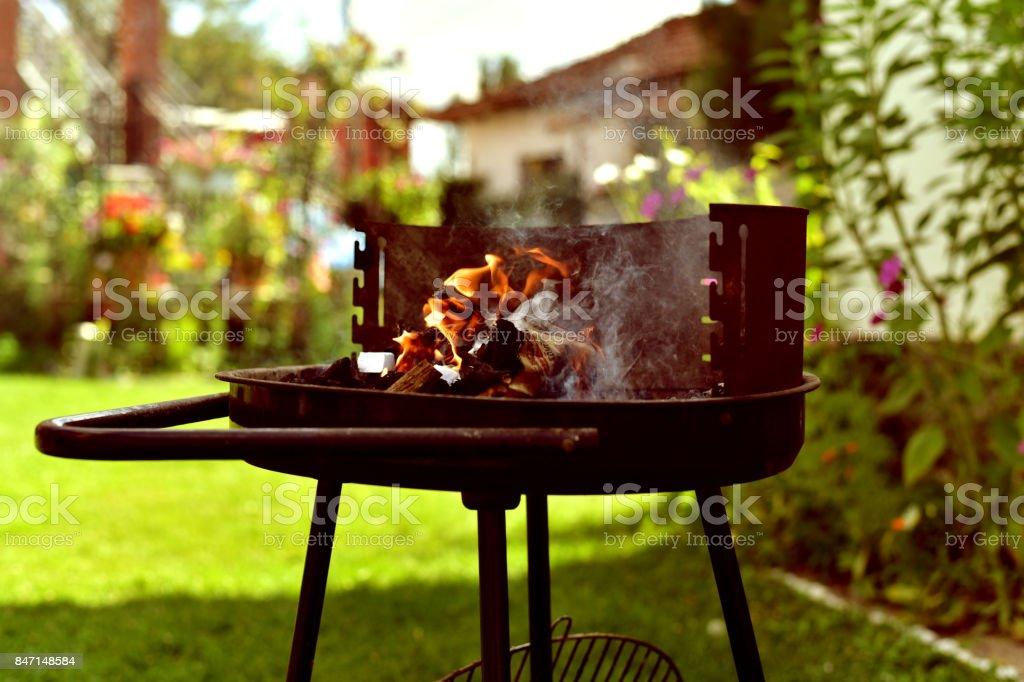 barbecue grill stock photo