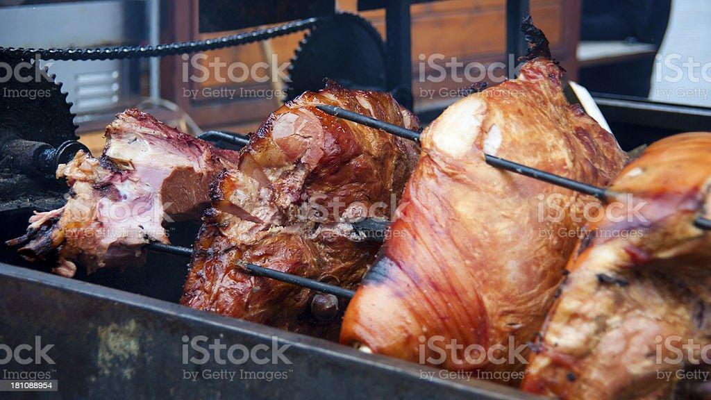 barbecue grill - Schinken auf Spieß royalty-free stock photo