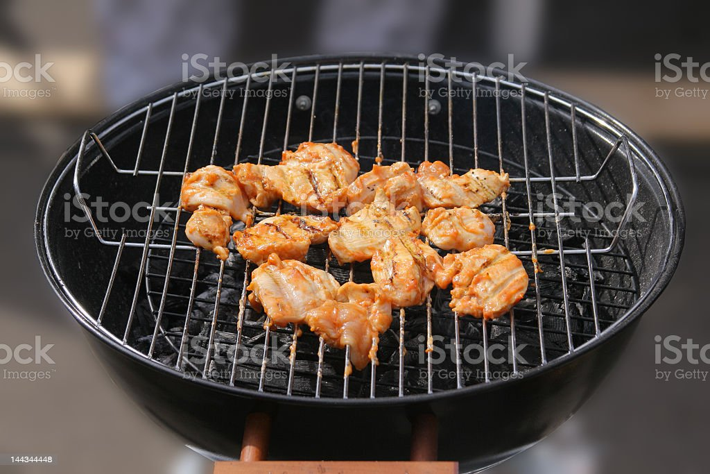 Barbecue grilled chicken breasts royalty-free stock photo