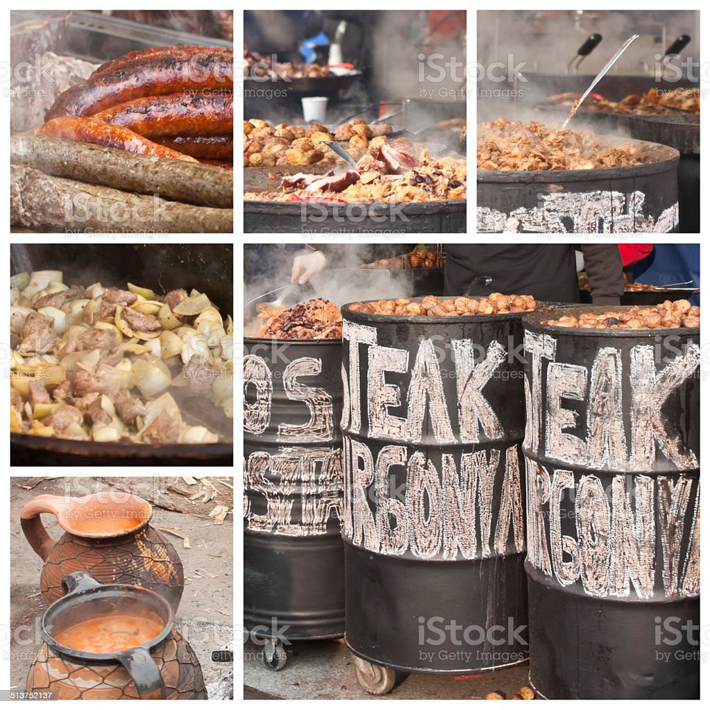 Barbecue in oil drums stock photo