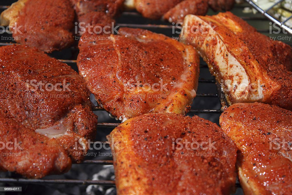 Barbecue / Meat on the grill royalty-free stock photo