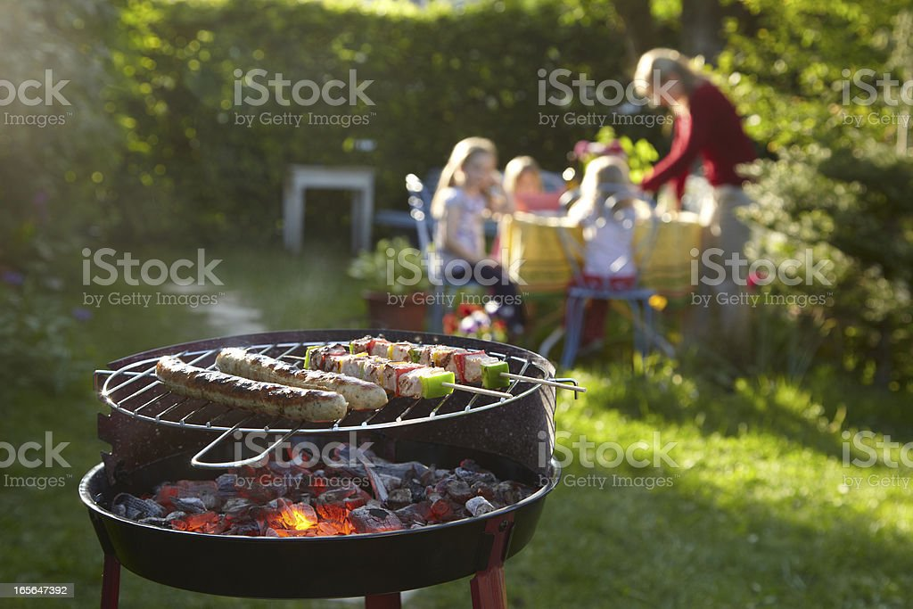 Barbecue on a summer evening stock photo