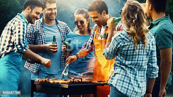 istock Barbecue party. 543487786