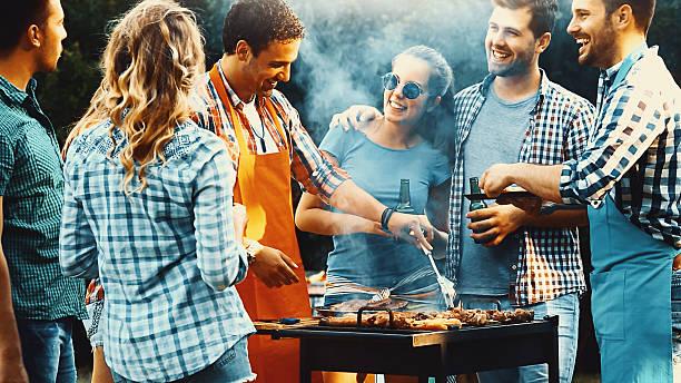 grill party.   - barbecue zdjęcia i obrazy z banku zdjęć