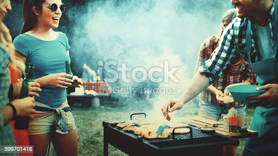 istock Barbecue party. 599701416