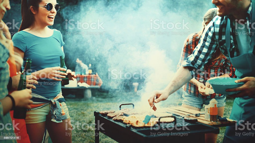 Soirée Barbecue.   - Photo
